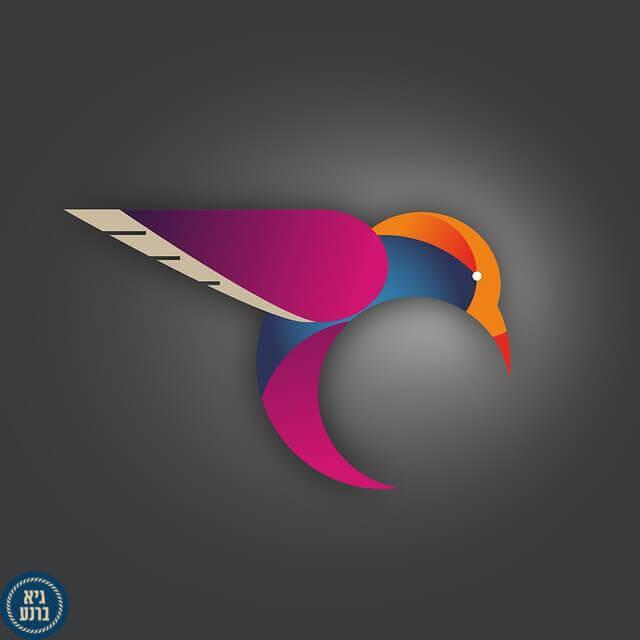 יצירת לוגו בעברית