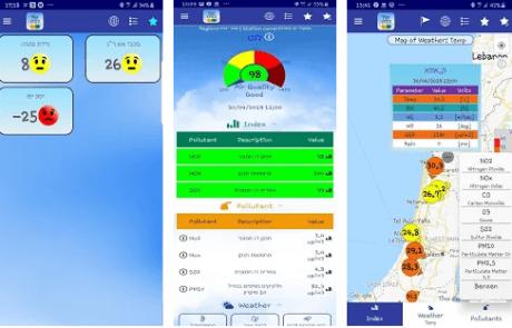 אוויר בסביבה – אפליקציה לבדיקת איכות האוויר בזמן אמת באזור המגורים