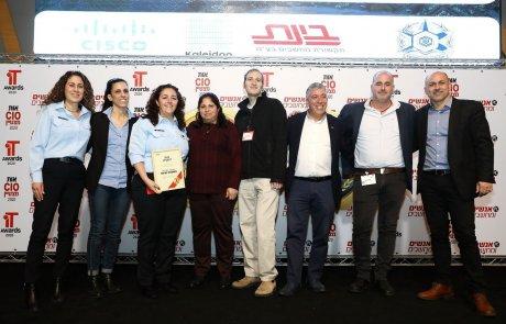 משטרת ישראל זכתה בפרסי הצטיינות